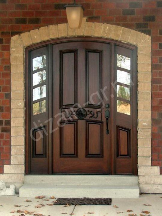 Входная дверь из массива ясени