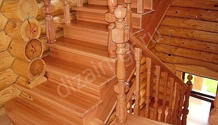 Лестницы из массива дерева