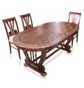 Овальный стол из массива
