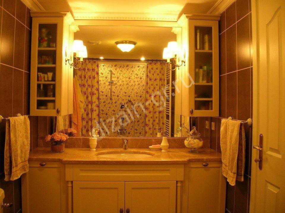 Встроенные шкафы в ванной комнате